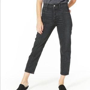 Black LEVIS Altered Straight Leg Jeans